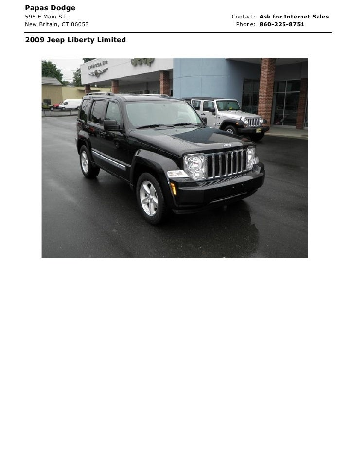 Papas Dodge595 E.Main ST.              Contact: Ask for Internet SalesNew Britain, CT 06053        Phone: 860-225-87512009...