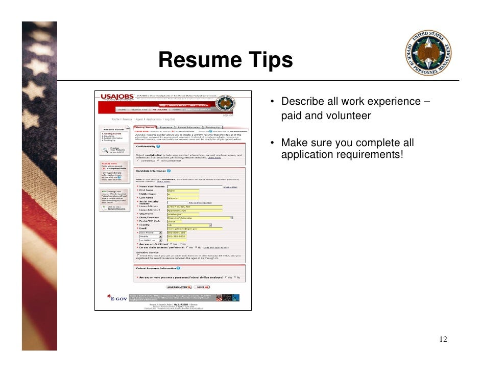How To Include Citizenship In Federal Resume