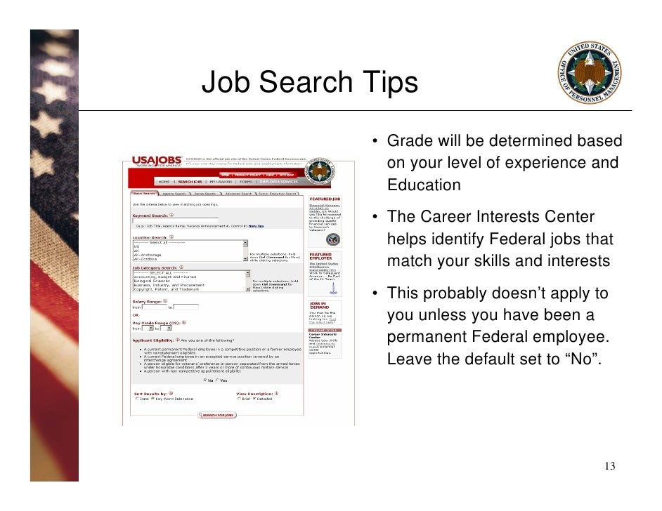 usajobs com  pursuing employment opportunities in the