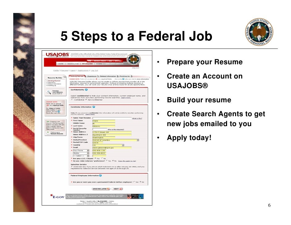 usajobs resume builder tutorial more information