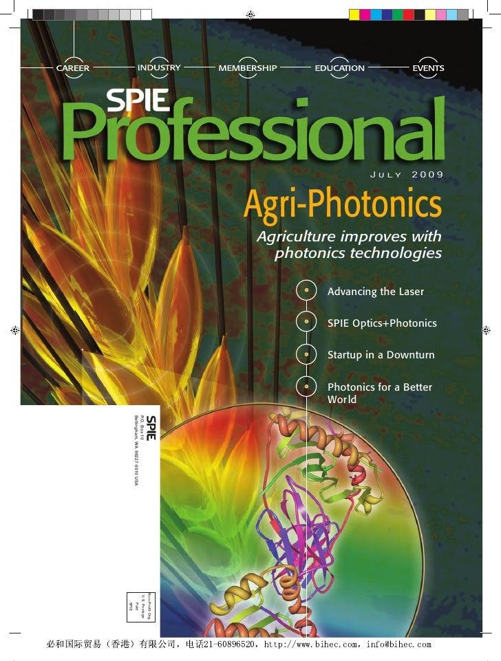 July 2009                                                                Agri-Photonics                                   ...