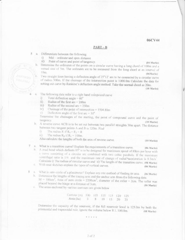 4th semester Civil Engineering (2009-July) Question Papers