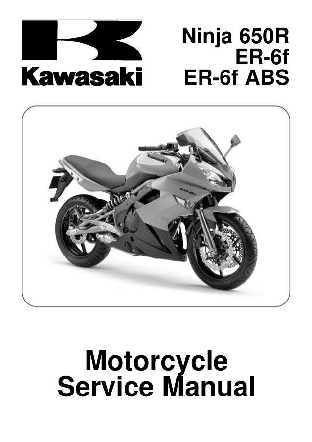 2009 kawasaki er 6 f ex650c9f d9f service manual rh slideshare net 2009 kawasaki ninja 650r owners manual pdf 2009 Kawasaki Ninja ZX6R