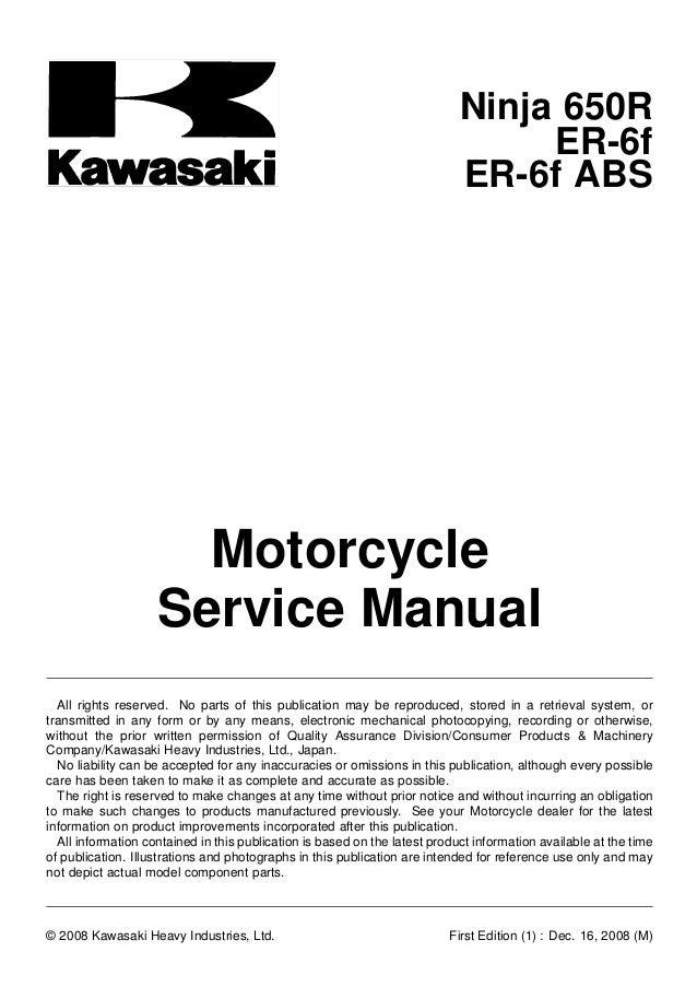 Kawasaki Er 6 Wiring Diagram - Search For Wiring Diagrams •