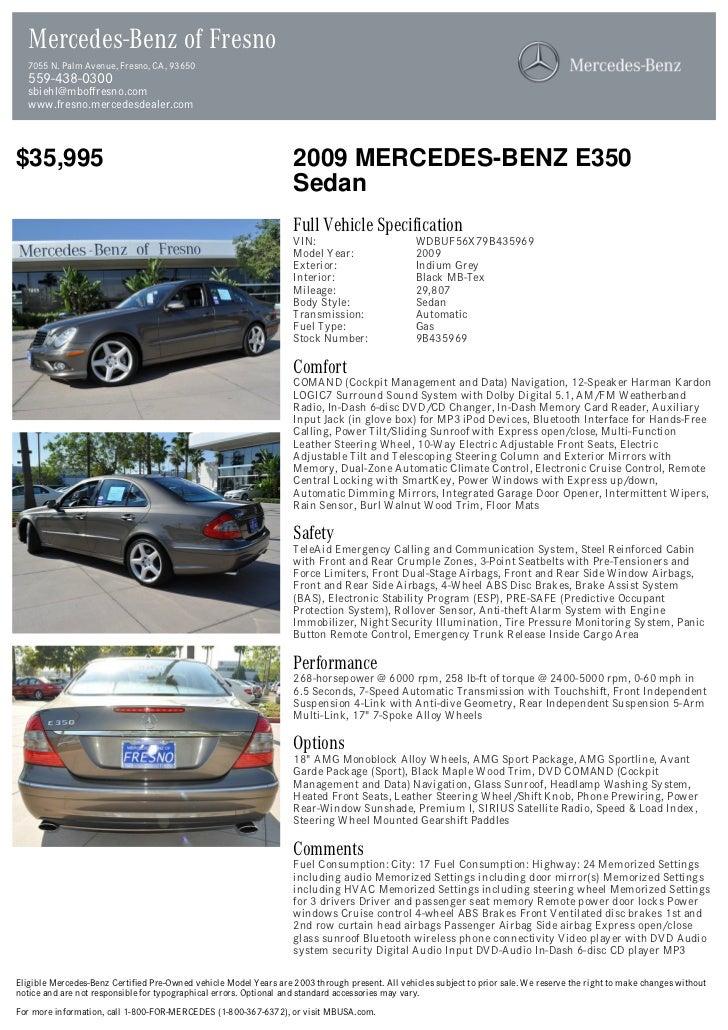 Mercedes-Benz of Fresno  7055 N. Palm Avenue, Fresno, CA, 93650  559-438-0300  sbiehl@mboffresno.com  www.fresno.mercedesd...