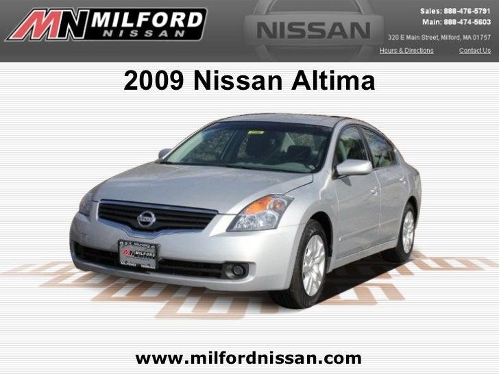 2009 Nissan Altimawww.milfordnissan.com