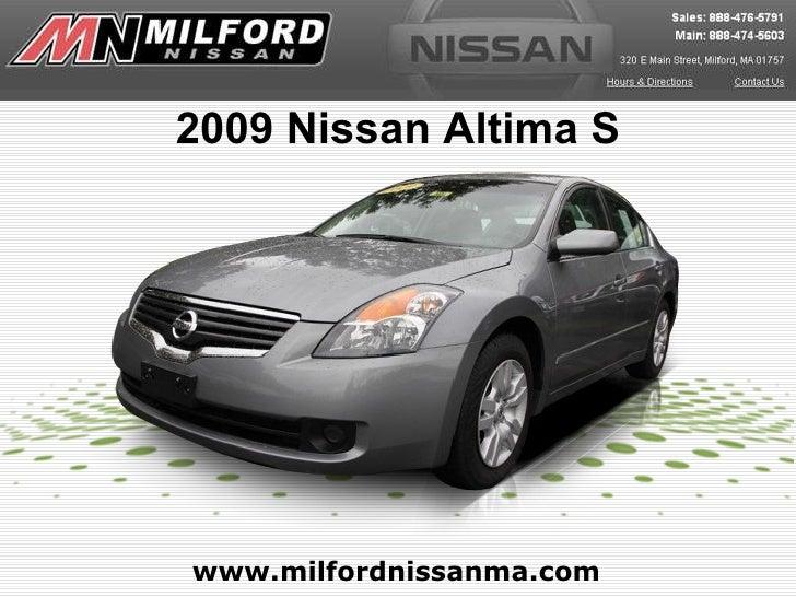 www.milfordnissanma.com 2009 Nissan Altima S