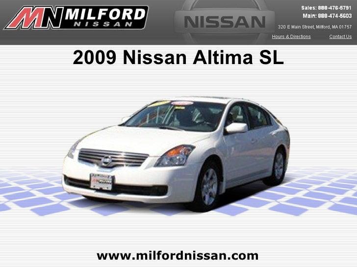 2009 Nissan Altima SL  www.milfordnissan.com