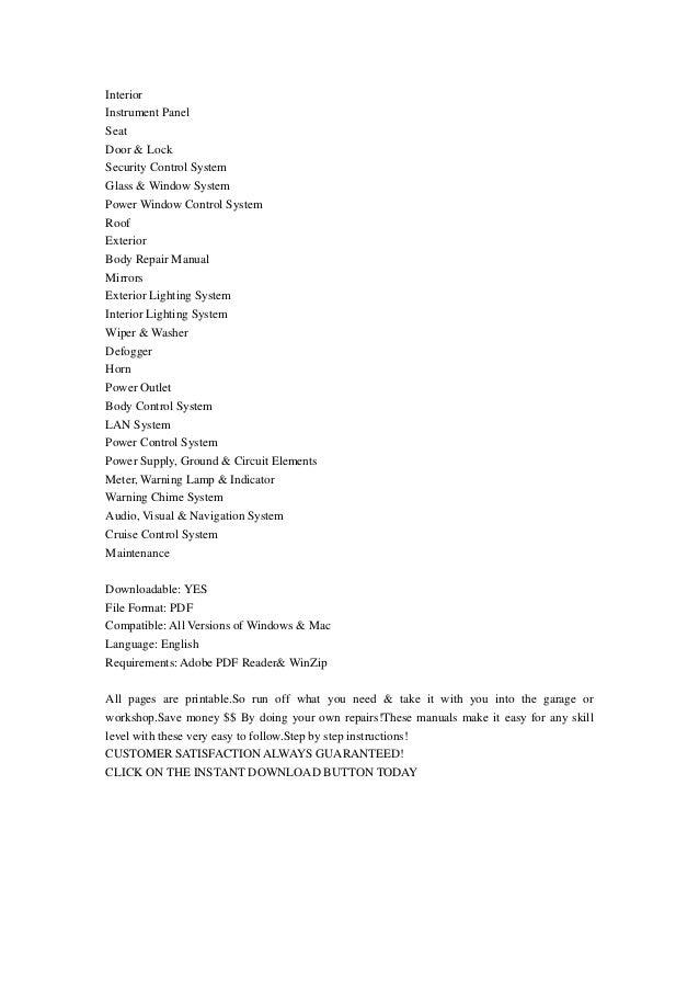 2009 nissan altima service manual pdf
