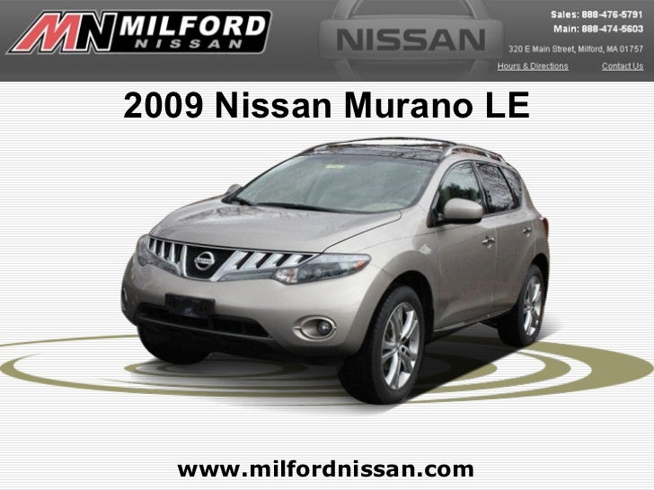 2009 Nissan Murano LE  www.milfordnissan.com