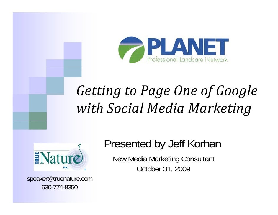 GettingtoPageOneofGoogle                 Getting to Page One of Google                 withSocialMediaMarketing   ...