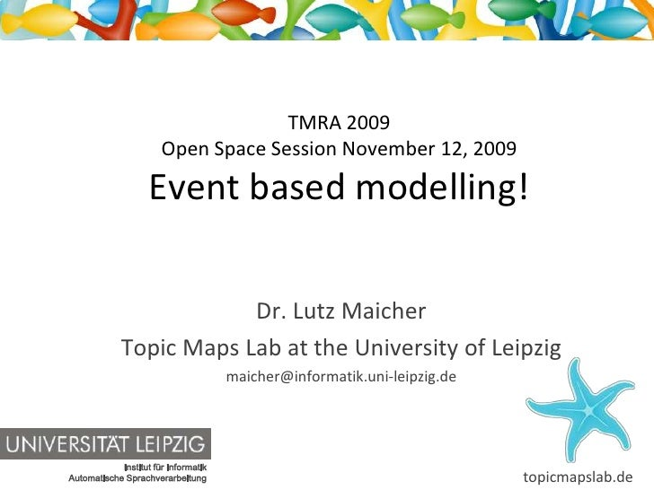 TMRA 2009                        Open Space Session November 12, 2009                     Event based modelling!          ...