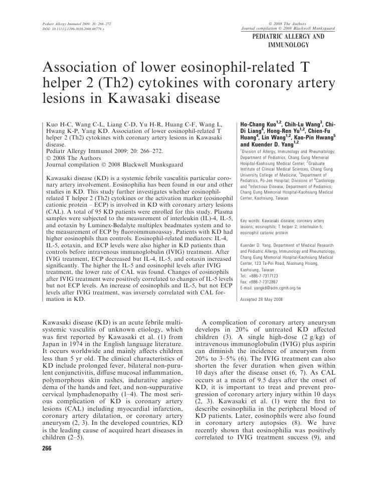 Pediatr Allergy Immunol 2009: 20: 266–272                                                   Ó 2008 The Authors DOI: 10.111...