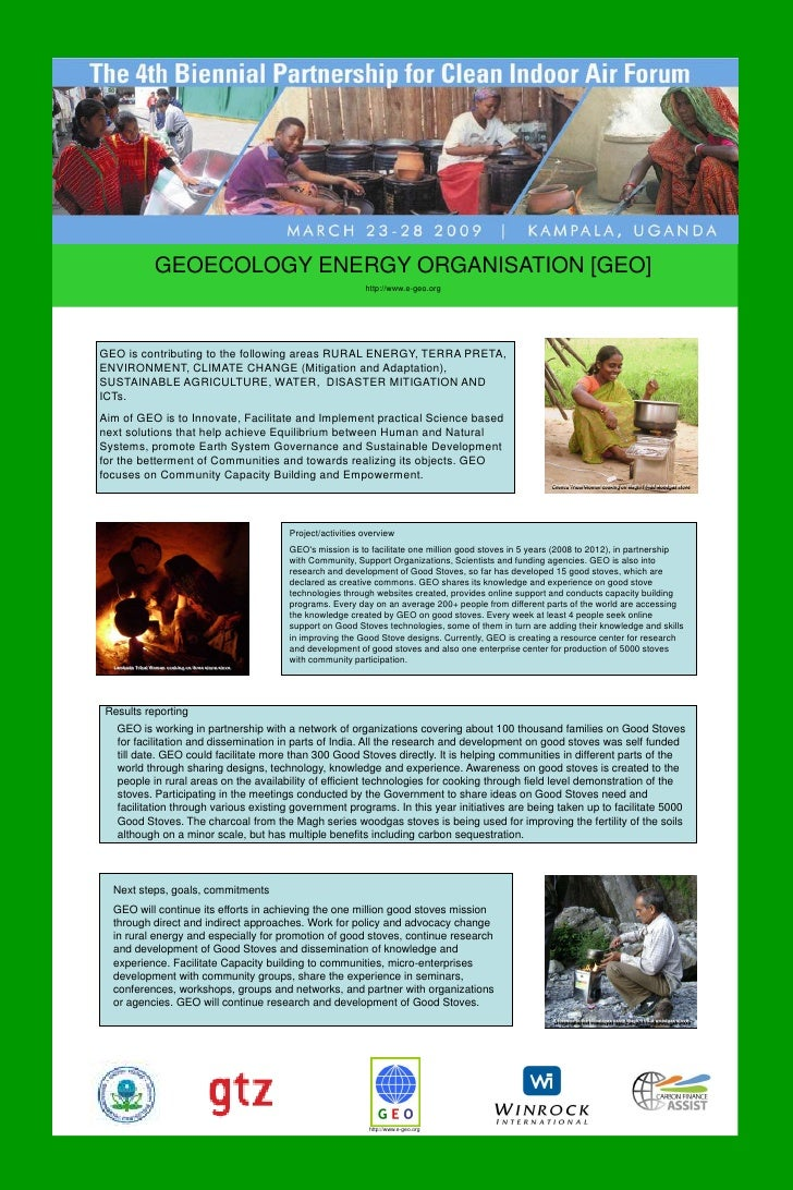 GEOECOLOGY ENERGY ORGANISATION [GEO]<br />http://www.e-geo.org<br />GEO is contributing to the following areas RURAL ENERG...