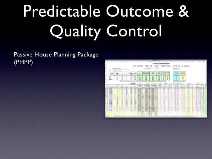 2009 Passive House Presentation