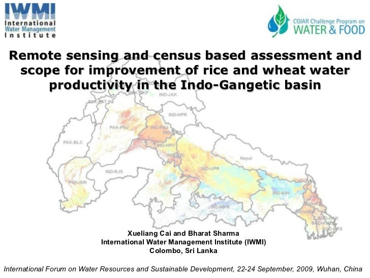 Remote sensing and census based assessment and scope for improvement of rice and wheat water productivity in the Indo-Gang...