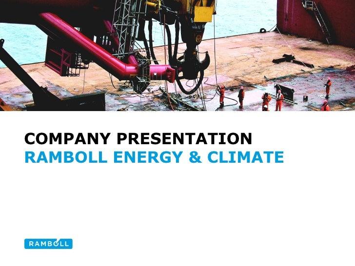 COMPANY PRESENTATION RAMBOLL ENERGY & CLIMATE