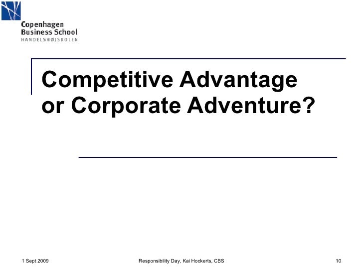 competitive advantage and corporate social responsibility management essay A definition of corporate social responsibility business essay  and competitive advantage rather than just a cost, a constraint, or charitable deed .