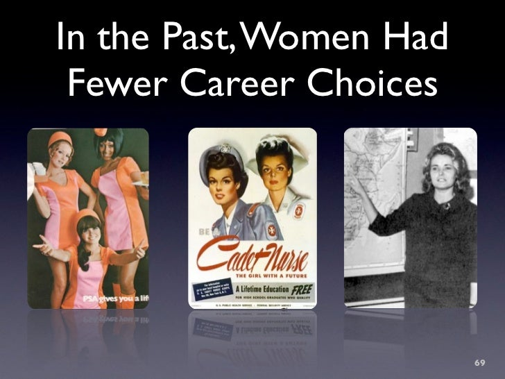 In the Past, Women Had  Fewer Career Choices                              69