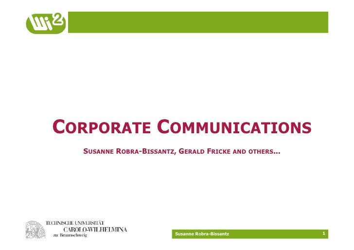 CORPORATE COMMUNICATIONS   SUSANNE ROBRA-BISSANTZ, GERALD FRICKE AND OTHERS...                              Susanne Robra-...