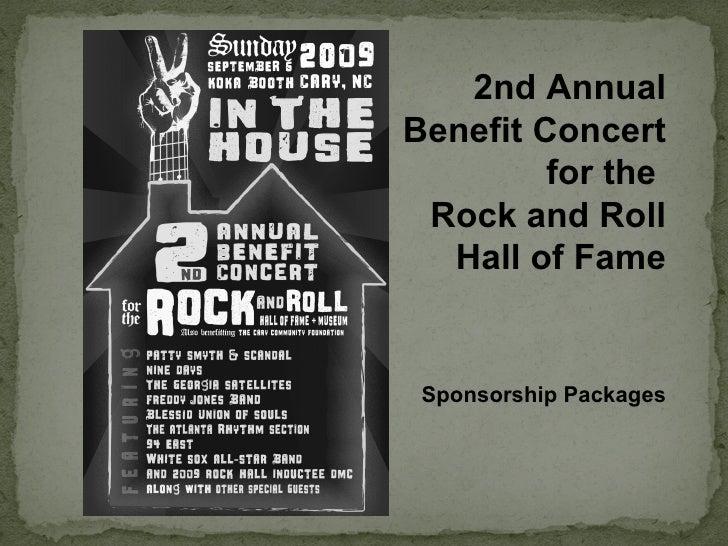 rock hall concert sponsorship deck