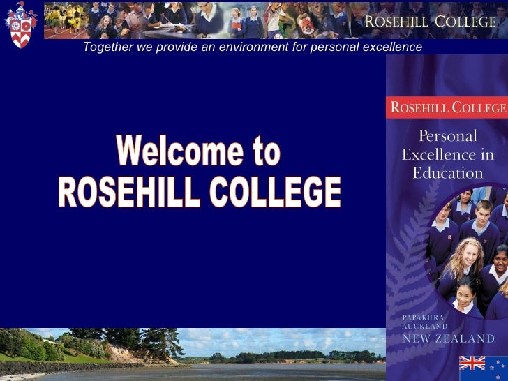 Welcome to ROSEHILL COLLEGE