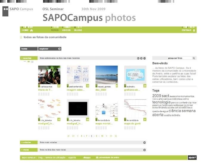SAPO Campus   OSL Seminar   30th Nov 2009                SAPOCampus photos