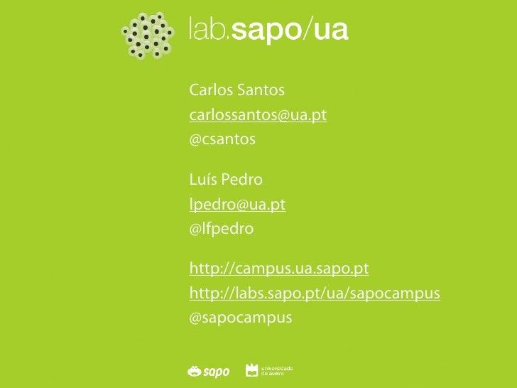 SAPO Campus   OSL Seminar   30th Nov 2009                                 Carlos Santos                             carlos...