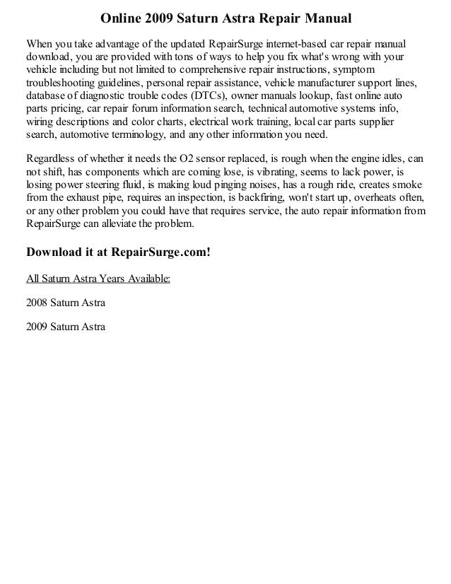 2009 saturn astra repair manual online rh slideshare net 2008 saturn outlook owner's manual pdf 2008 saturn outlook owner's manual