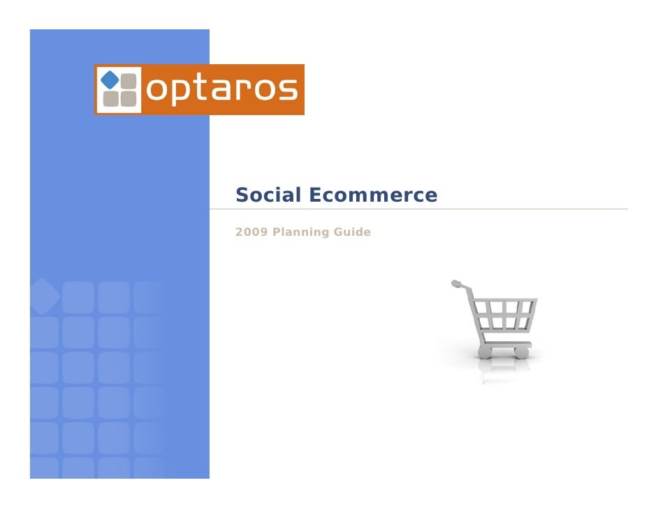 Social Ecommerce 2009 Planning Guide
