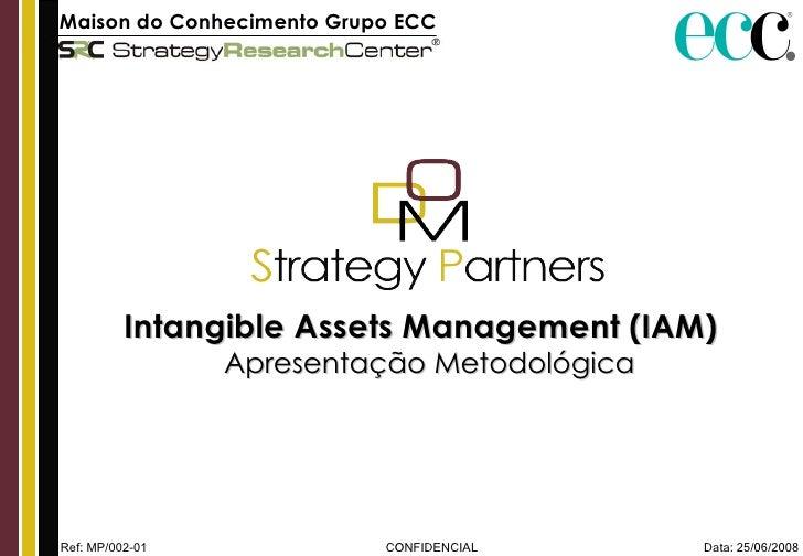 Data: 25/06/2008 CONFIDENCIAL Maison do Conhecimento Grupo ECC   Intangible Assets Management (IAM)  Apresentação Metodoló...