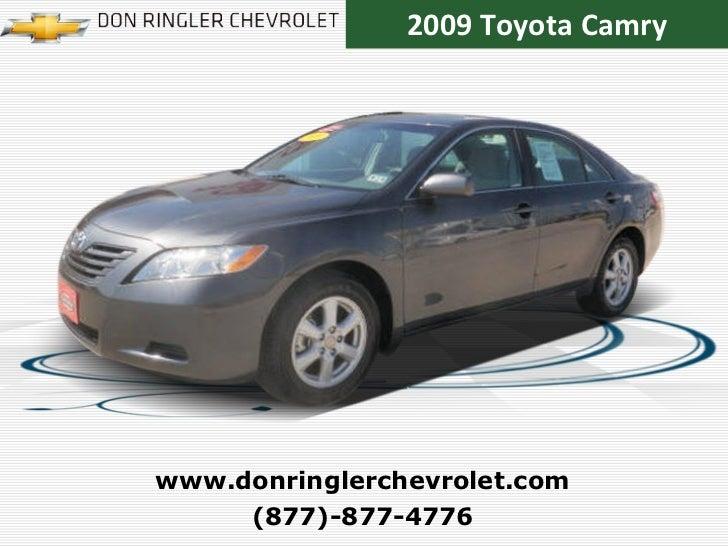 2009 Toyota Camry (877)-877-4776 www.donringlerchevrolet.com