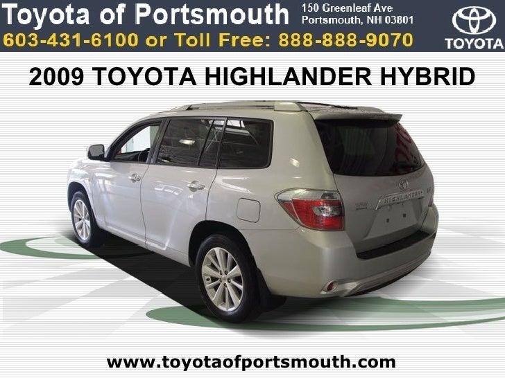 Used Toyota Highlander Hybrid Limited Portsmouth NH Toyota Dea - Toyota dealer nh