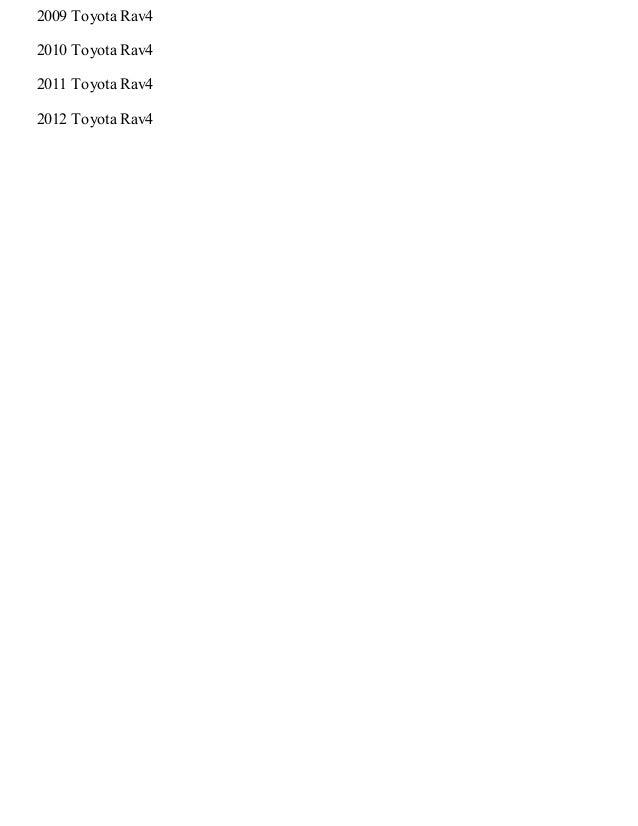 2010 toyota rav4 service manual pdf