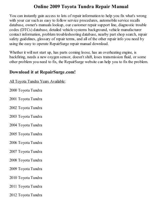 2009 toyota camry repair manual