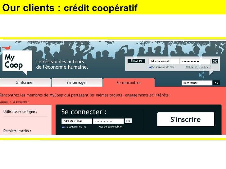 Our clients :  crédit coopératif