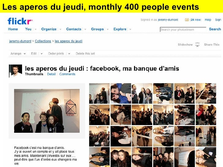 Les apéros du jeudi  monthly events Les aperos du jeudi, monthly 400 people events