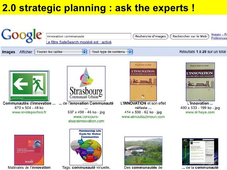 2.0 strategic planning : ask the experts !