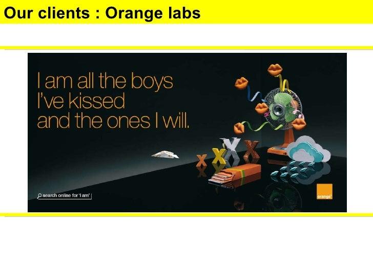Our clients : Orange labs