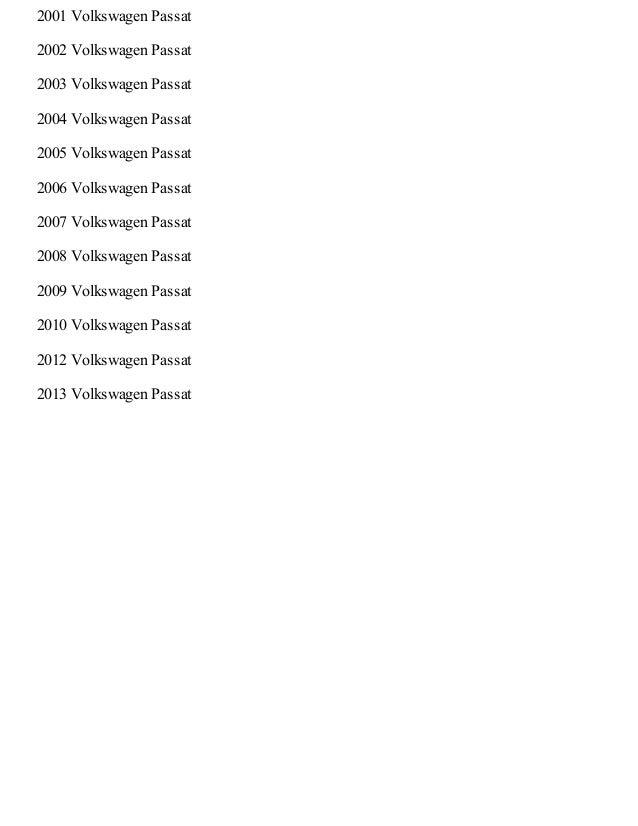 2008 volkswagen passat wagon owners manual