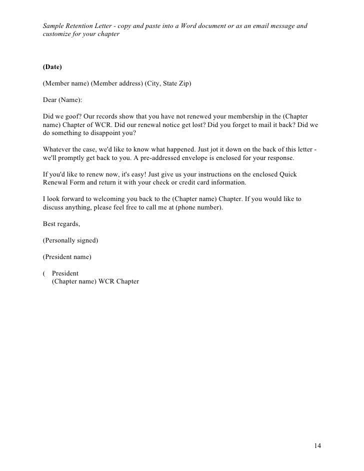 Board Recruitment Letter Template