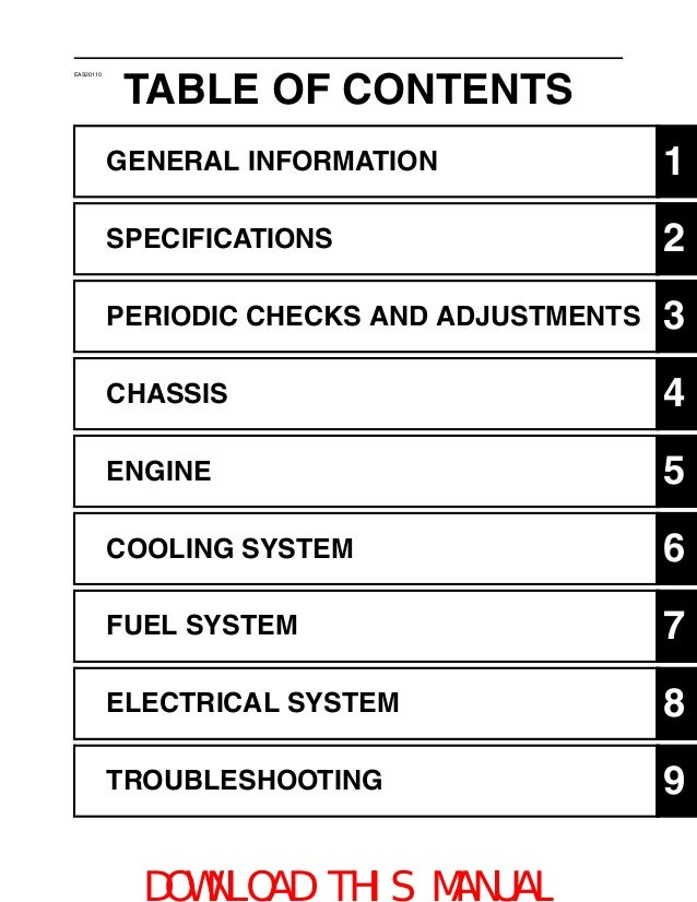 2009 yfz450r service_manual_部分1_部分1