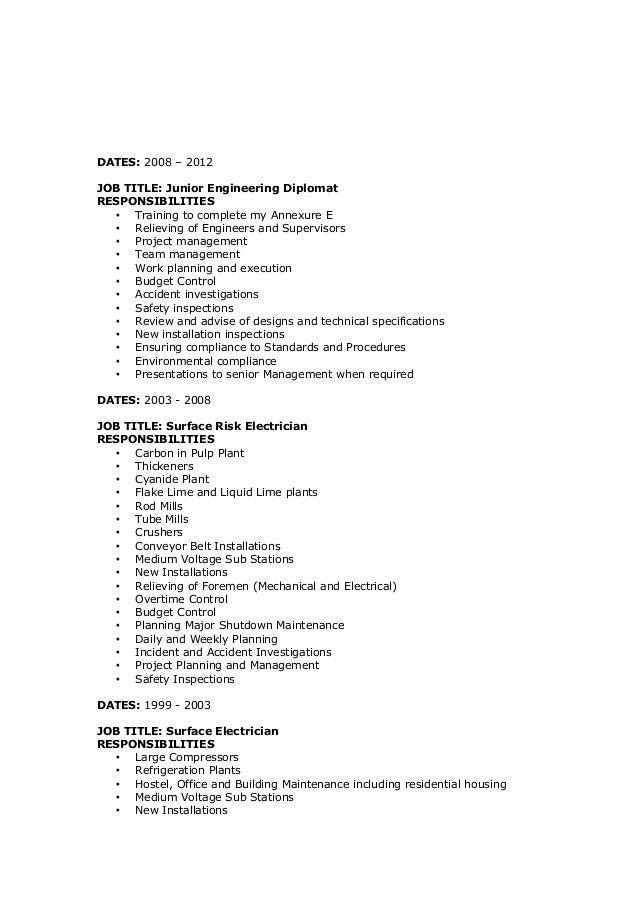 jj du toit cv rev 2 rh slideshare net Electrician Exam Study Guide Basic Electrical Study Guide