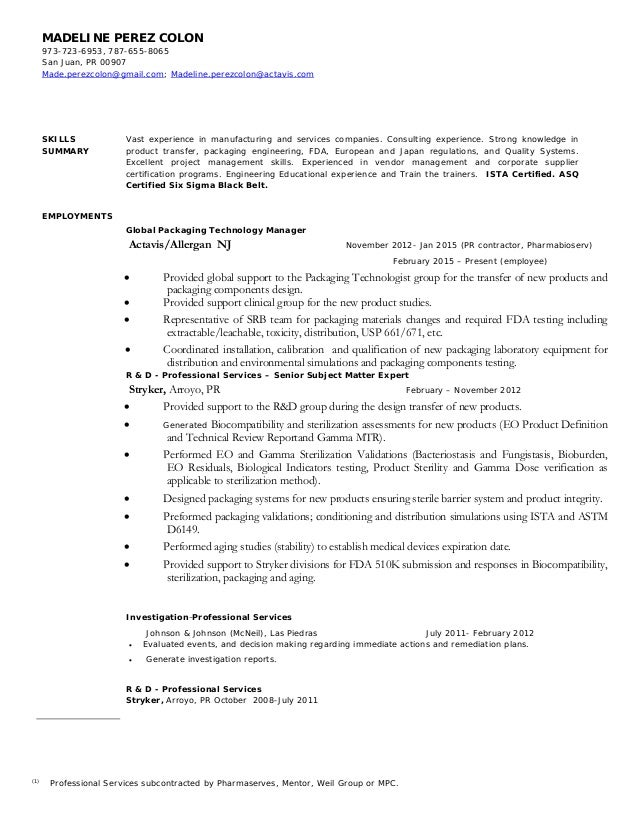 madeline perez colon resume 2015