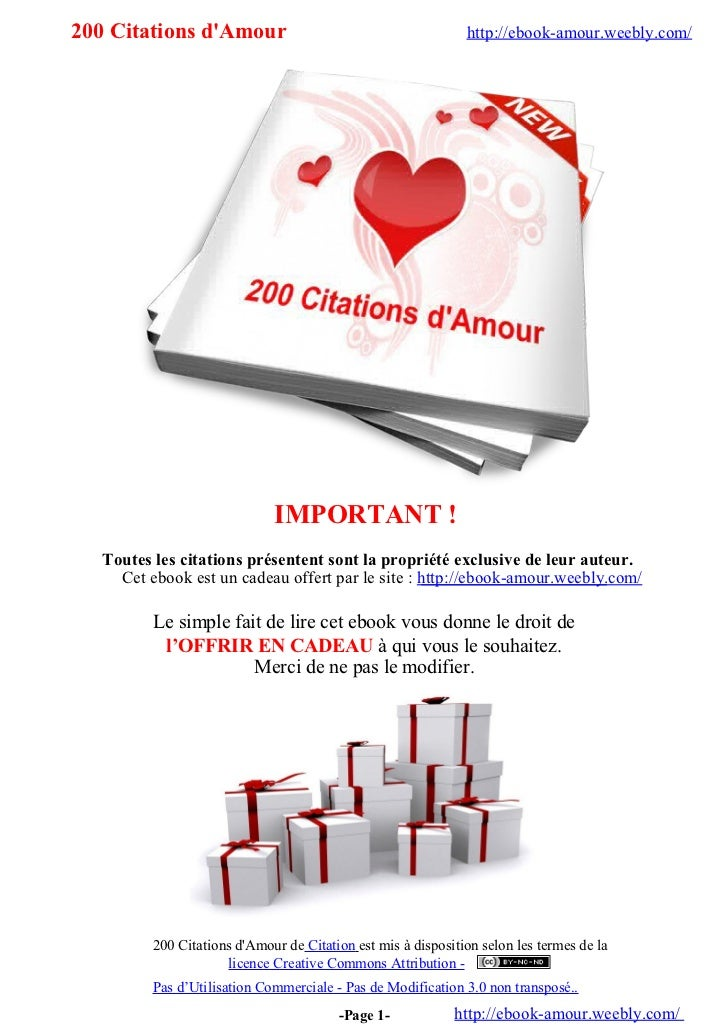 200 Citations dAmour                                          http://ebook-amour.weebly.com/                              ...