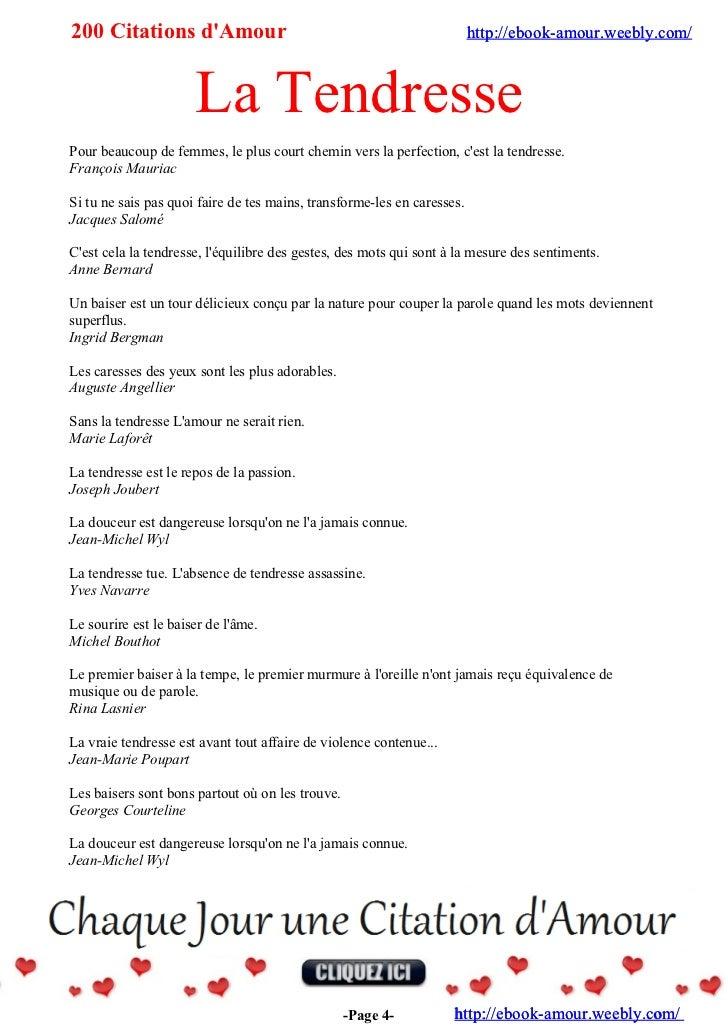 200 Citations D Amour