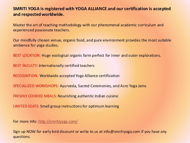 200 hours yoga teacher training goa provided by smriti yoga