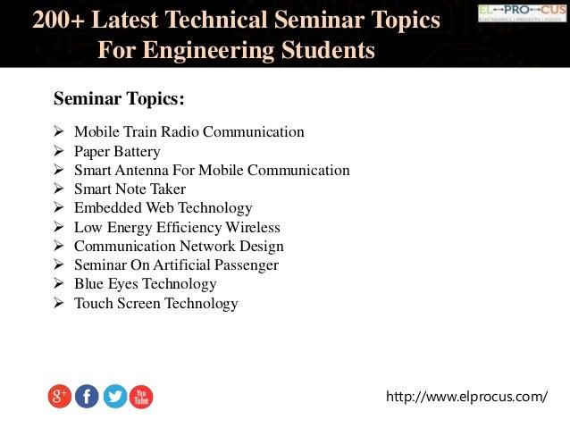 Topics pdf seminar