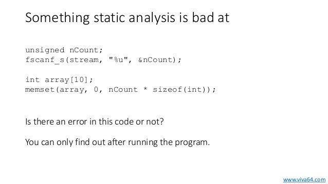 static analysis of a source code See also code analysis - referencesa comparative study of industrial static  analysis tools emanuelsson, par and nilsson, ulf electronic.