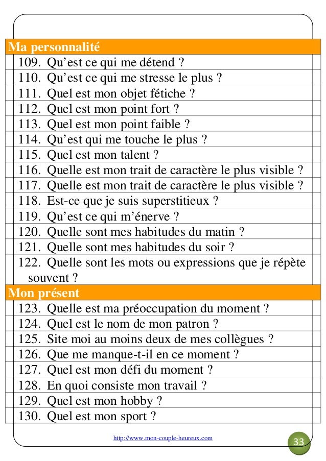 Questions originales site de rencontre